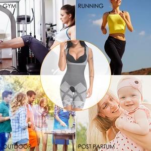Image 5 - Vaslanda mulheres pós natal pós parto bodysuits emagrecimento roupa interior recuperar shapewear cintura espartilho bumbum levantador shaper