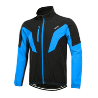 Winter Warm Up Men Cycling Jacket Cycling Jersey Breathable Bicycle Clothing Windproof Sports Coat MTB Bike