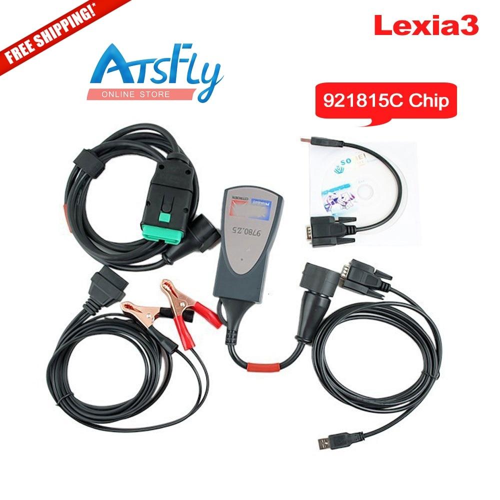 Горячая Multi-язык инструмент lexia 3 полный чип 921815C lexia3 средство V48 пса хз эволюции Програмным В7.65