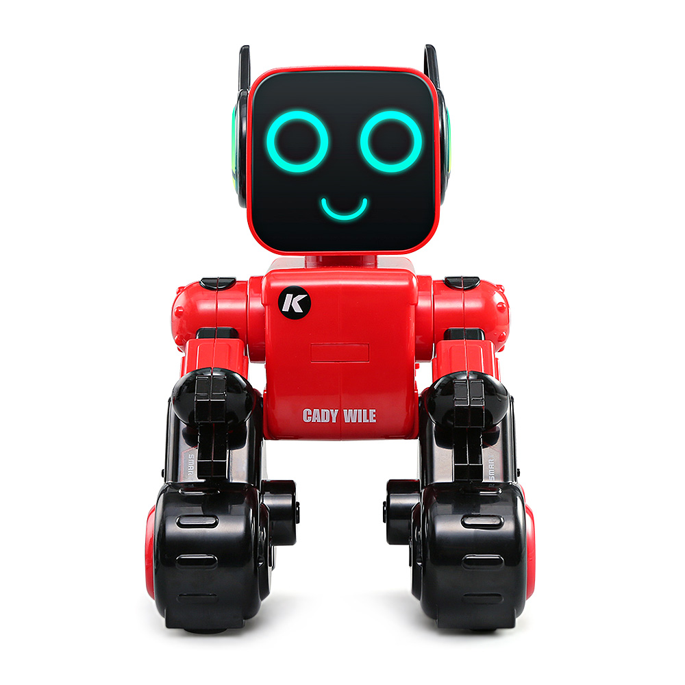 JJRC R4 RC Robots Multifunctional Voice-Activated Intelligent Toy Gesture Control Robot Toys Money Coin Saving Bank Kids Gifts jjrc rc robot kids toy 2 4g intelligent programming gesture sensor singing dancing display candy action figure robots toy