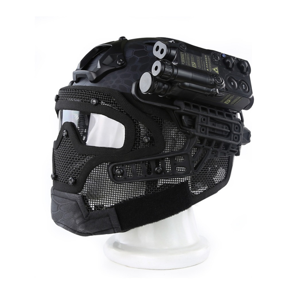 Airsoft Paintball Tactical Helmet Protective Fast Helmet ABS Tactical Mask with Goggles CS equipment high quality outdoor airframe style helmet airsoft paintball protective abs lightweight with nvg mount tactical military helmet