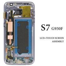"""5.1 """"OEM لا حرق الظل لشاشة سامسونج غالاكسي S7 G930F LCD مع الإطار لقطع غيار للشاشة LCD سامسونج S7 G930F"""