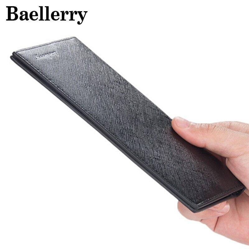 Baellerry Повседневное ультра-тонкий мягкий кожаный Для мужчин бумажник банк держатель для карт длинный кошелек сцепления Портативный Для мужч…