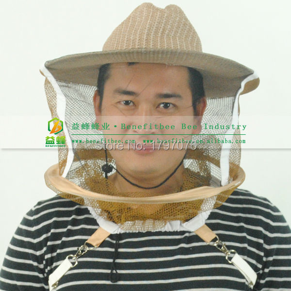 New Cool Durable Beekeeper Jeans Folding Net VEIL Bee Hat Cap Protective Sun and Sting Hat AUG28
