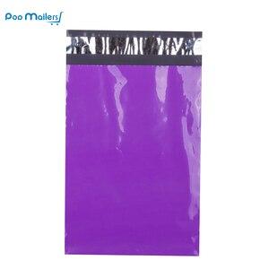 Image 2 - 100pcs 23 9x12 polegada x 30.5cm Roxo Poly Mailers Envelopes de Envio Sacos Boutique Couture