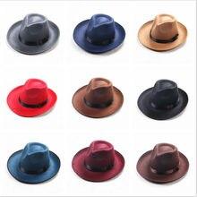 71266bf0b20 Winter Vintage Warm Sun-shade Panama Fshion Gangster Cap Hard Wide Brim  Fedora Trilby Felt Hat British Style Women Men