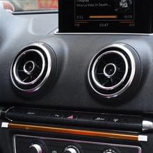 Accesorios para el Interior del coche, pegatinas decorativas de aluminio, para Audi A3 2003 2012 Q2 2014, salida de aire acondicionado