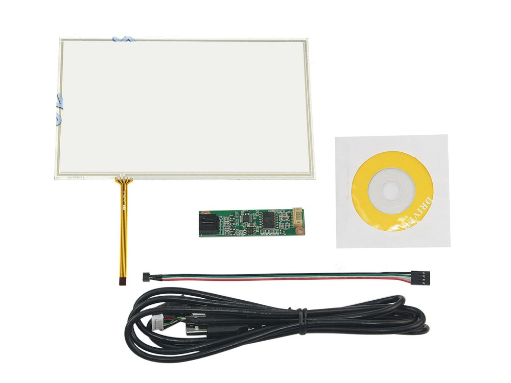 New 8inch 4 Wire Resistive Touch Screen Panel USB Controller for HSD080IDW1-C01 LCD Screen touch panel Glass Free shipping  цены