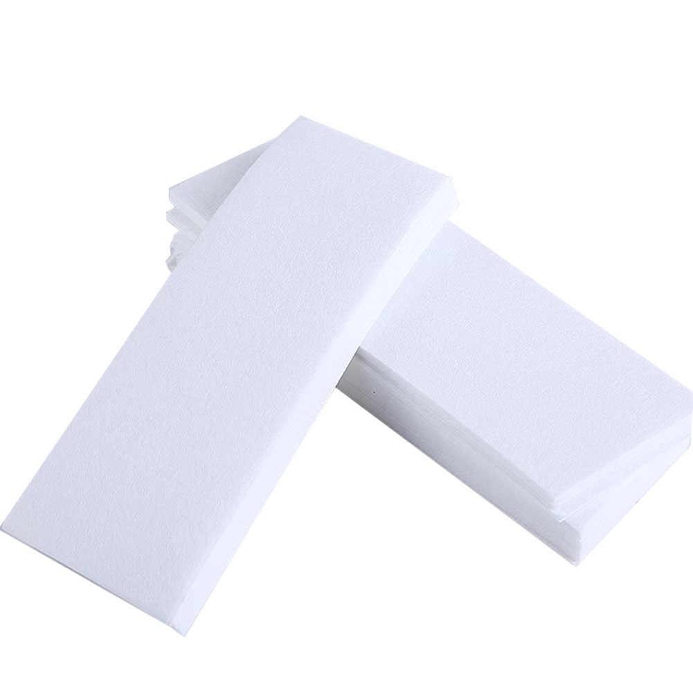 100 adet/grup balmumu şerit s Epilasyon Tüy Dökücü Nonwoven Epilatör balmumu şerit kağıt rulosu Ağda Sağlık Güzellik Pürüzsüz Bacaklar