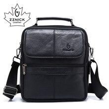 ZZNICK 2018 ของแท้ Cowhide หนังกระเป๋าสะพาย Messenger กระเป๋าผู้ชาย Crossbody กระเป๋ากระเป๋าถือกระเป๋าแฟชั่นผู้ชายใหม่