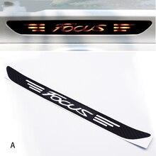 Декоративная наклейка из углеродного волокна для Ford Focus MK2 MK3 2005- Автомобильный задний Высокий тормозной фонарь Наклейка эмблемы и аксессуары для автомобиля