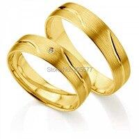המערבי הקלאסי בסגנון אירופאי זהב צהוב ציפוי titanium jewerly טבעות טבעות נישואים
