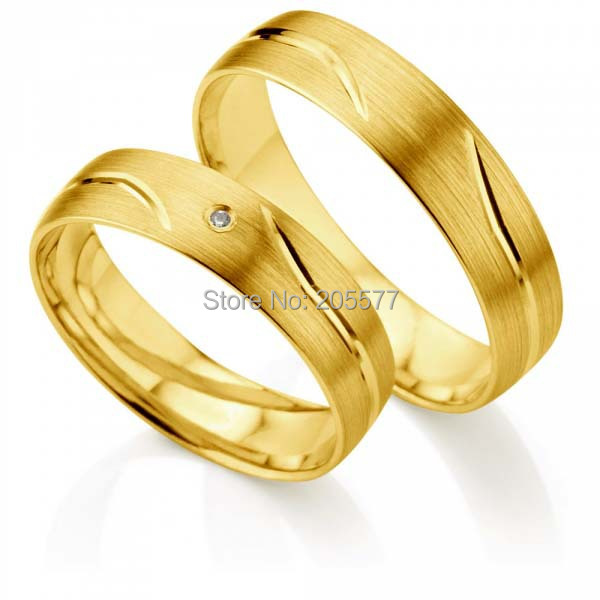 Classic western European Style yellow gold plating titanium jewerly