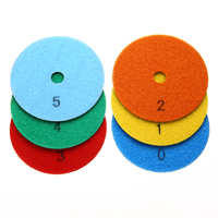 6pcs 4 10cm Flexible Dry Diamond Polishing Pads Set Kit Mayitr For Granite Stone Concrete Marble