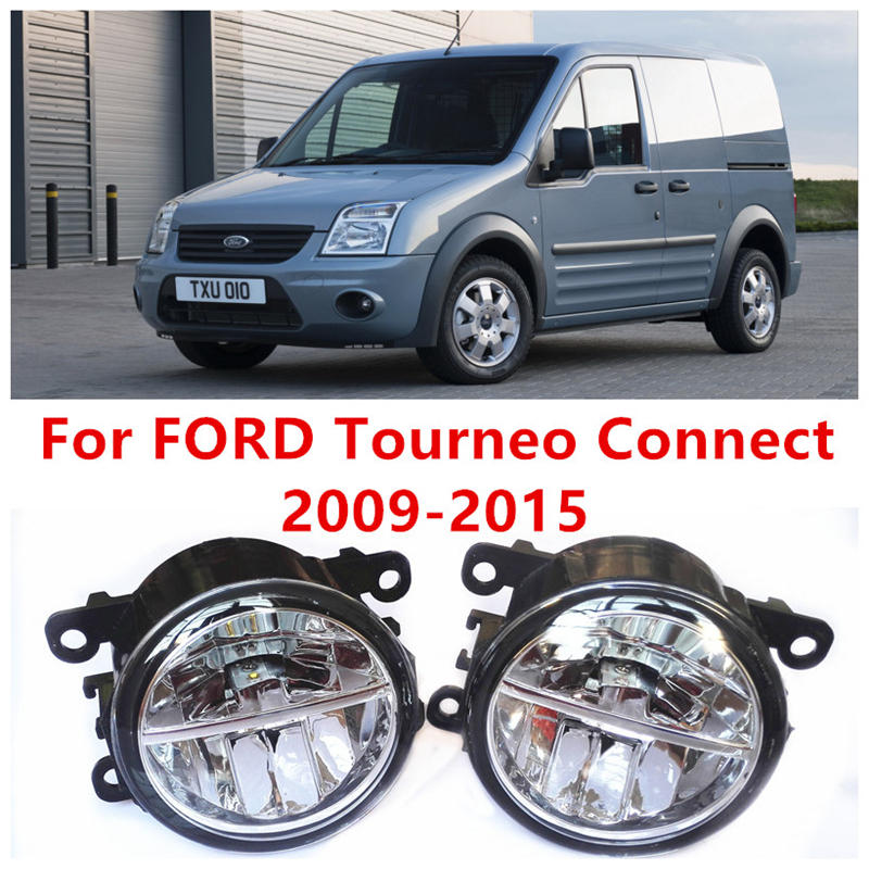 For FORD Tourneo Connect  2009-2015 Fog Lamps LED Car Styling 10W Yellow White 2016 new lights for ford fiesta van box 2009 2015 fog lamps led car styling 10w yellow white 2016 new lights