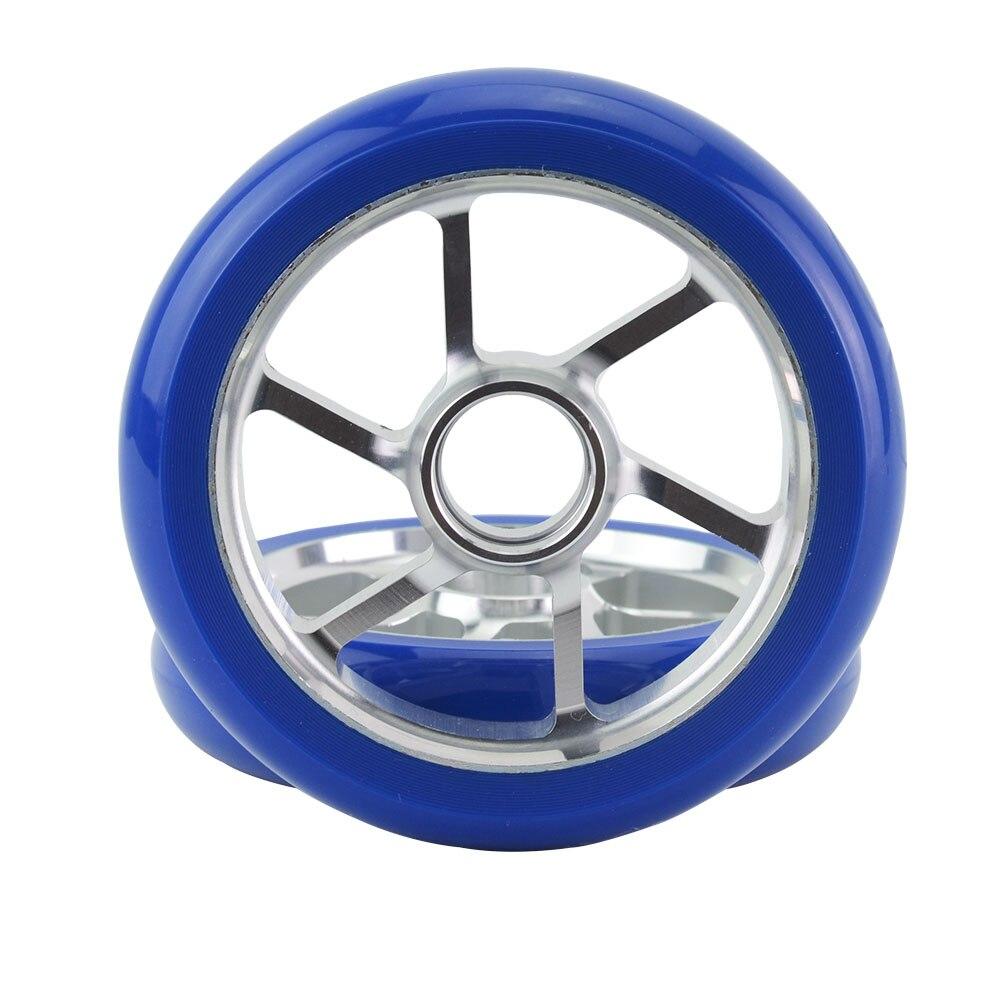 Stunt Scooter Aluminum Wheels High elastic Wear-resistant PU Skates Wheels 2PCS 110mm
