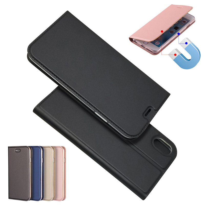 Magnetic absorption Leather Flip Case Cases Cover Phone Accessories For iPhone X XR XS MAX 8 8Plus 7 7Plus 6 6S Plus 5G 5S SE