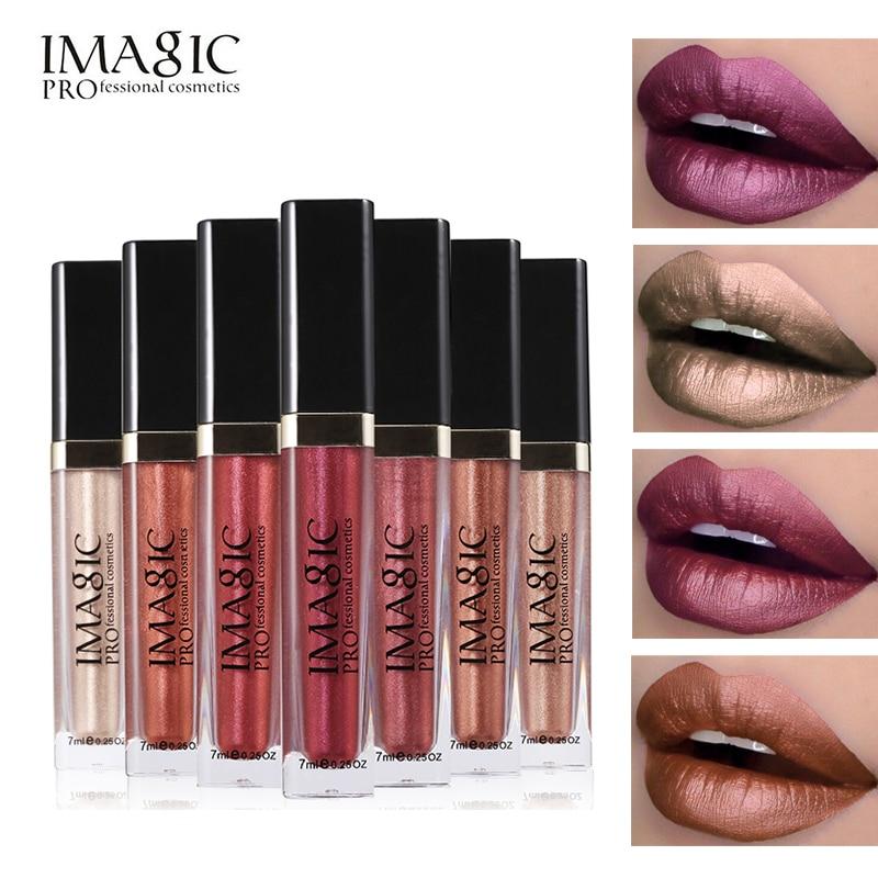 Imagic 8 Colors Lip Gloss hosszú élettartamú matt fém pigment ajkak ceruza vízálló ajakrúzs alkotó szex szépség ajakrúzs