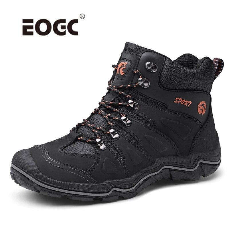ธรรมชาติหนังผู้ชายรองเท้ากันน้ำกลางแจ้ง Anti   Slip ยางข้อเท้ารองเท้าฤดูใบไม้ร่วง Retro สไตล์รองเท้าปีนเขารองเท้าผู้ชาย-ใน รองเท้าบูทแบบเบสิก จาก รองเท้า บน   1