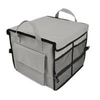1PCS Quality Storage Box Car SUV Trunk Bag Folding Multi Use Organizer Storage Bag Gray Oxford