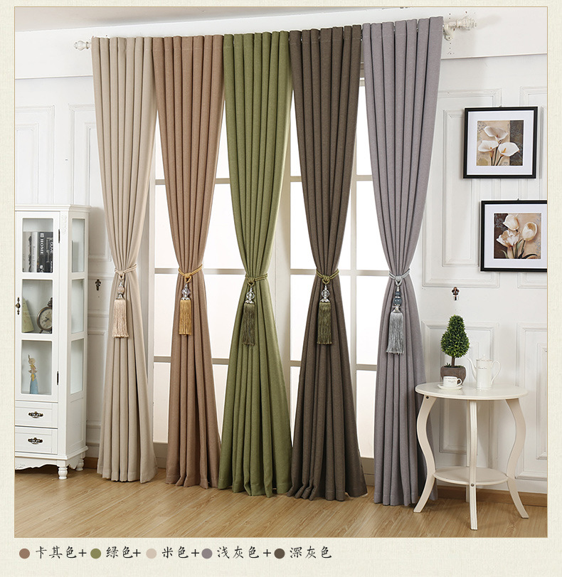 Linen curtains for bedroom modern minimalist blackout curtains for living room rideaux pour le salon rideaux luxe salon