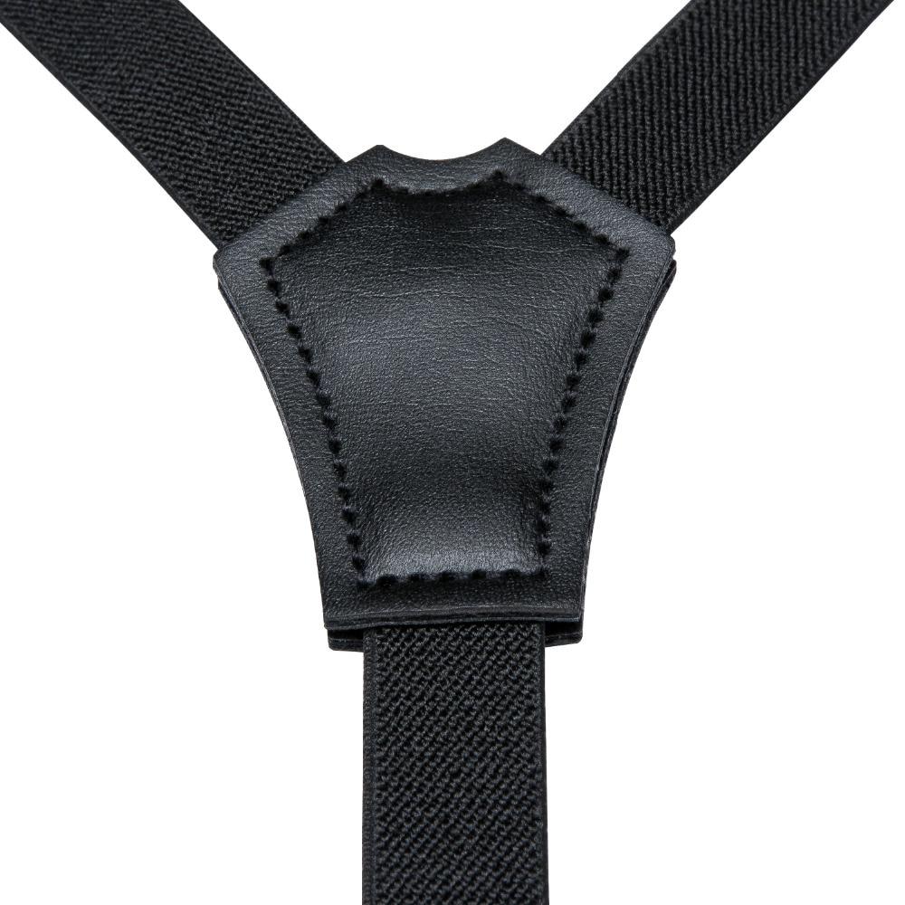 <+>  DiBanGu Дети Дети Мальчики Девочки Черные Подтяжки Y-Back Брекеты Регулируемые галстуки-бабочки