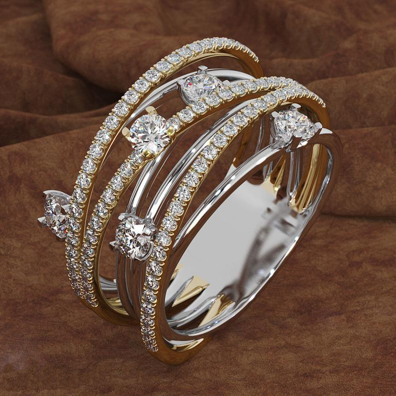 HTB1hBTQUpzqK1RjSZFoq6zfcXXaB 14K 3 Colors Gold Diamond Ring for Women Vintage Fashion Topaz Zircon Gemstone Bizuteria Anillos Sliver Jewelry Engagement Ring
