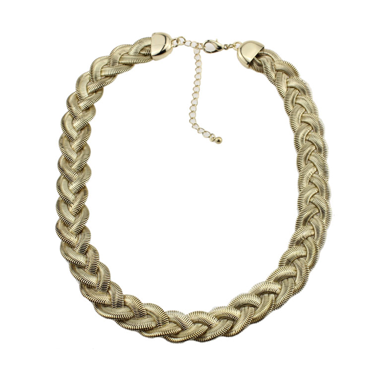 Promotion Fashion Chunky Aggressiveness Copper Material Hemp Chain Necklace Simple Rock Biker Punk Hip Hop Jewelry For Women