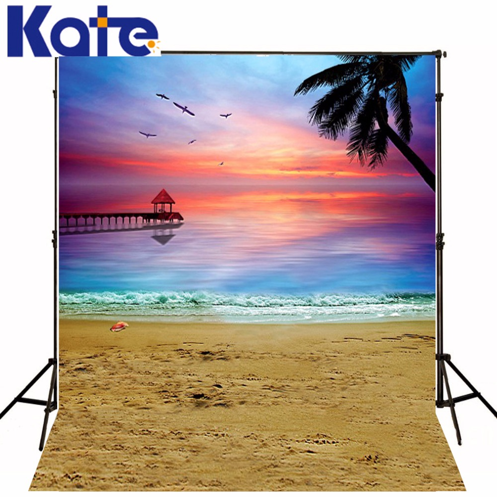 Kate 10X10FT Photography Background Summer Beach Background Scenic Photography Backdrops Newborn Background for Photo Studio 10x10ft kate spring scenery photography