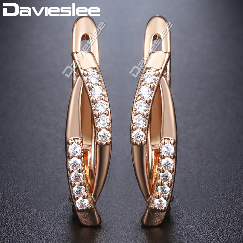6d1717270 Detail Feedback Questions about Davieslee 585 Rose Gold Filled Stud ...