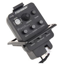 Popular Acoustic Guitar Pickup and Preamp Built-in Tuner and EQ black