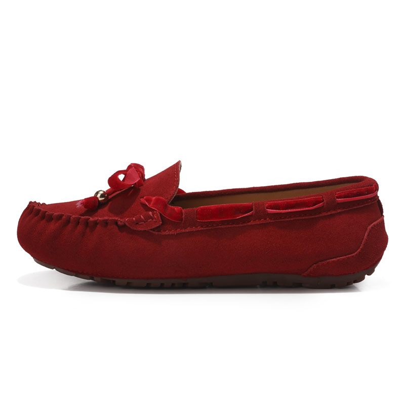 kilobili women ballet flats shoes suede leather slip on riband knot driver loafers ladies women casual moccasins Spring Summer-in Women's Flats from Shoes    3