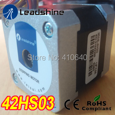 Free Shipping GENUINE Leadshine step motor 42HS03 Parallel current 1.4A NEMA 17 with 67 Oz-in 0.47 Nm torque 3 phrase leadshine 573s15 step motor