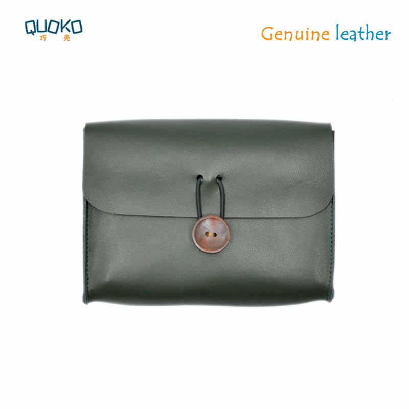 ultra-thin Genuine leather sleeve pouch cover for Surface & Macbook Accessories Mouse Data Line Power Spply Storage Bag