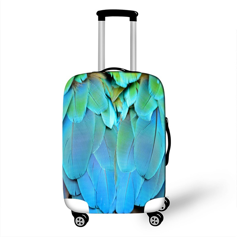 New Candy Feather Elastic Fabric Luggage Cover Cute Kids Trolley Case Protector Cover For 18-32 Inch Suitcase Protective Cover