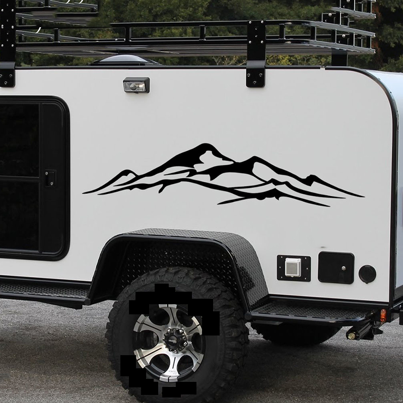 1 Pcs Mountain Decal Vinyl Nature Fores Graphic Sticker Camper Trailer Truck Body Car Stickers Decals