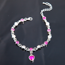 Womens bracelet amber Armband citrine amethyst Austrian Crystal Bracelet Heart gemstone on hand SZ07