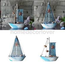 Figurines décoratives pour bord de mer, 2 pièces, bateau, bateau, décor de table, fête