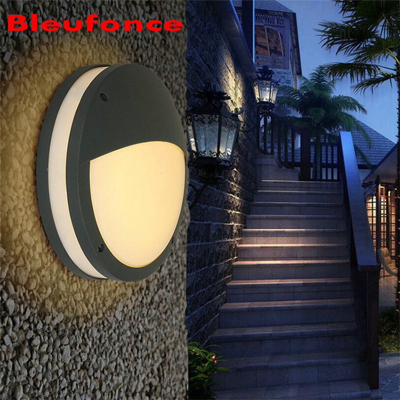ФОТО Modern 12W LED Waterproof Garden Light Outdoor Wall Lamp IP65 wall Mounted Courtyard Led wall lights AC90-260V NB61