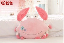 lovely pink crab plush toy cartoon crab doll pillow birthday gift about 55cm