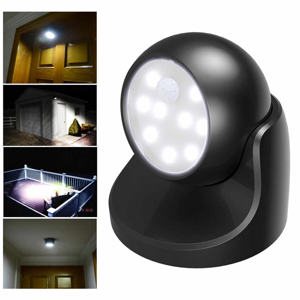 Hot Sale 360 Degrees Rotary Motion Sensor Light Activated Cordless Sensor LED Light Indoor Outdoor Garden Wall Patio Shed Lights