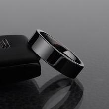 Высокое качество 4 мм / 6 мм полированной черной керамики кольца для мужчин женщины обручальные обручальные кольца размер 4 – 12 бесплатная доставка