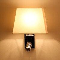 Led спальня бра кровать освещение двойной слайдер стены настольная лампа Основное освещение