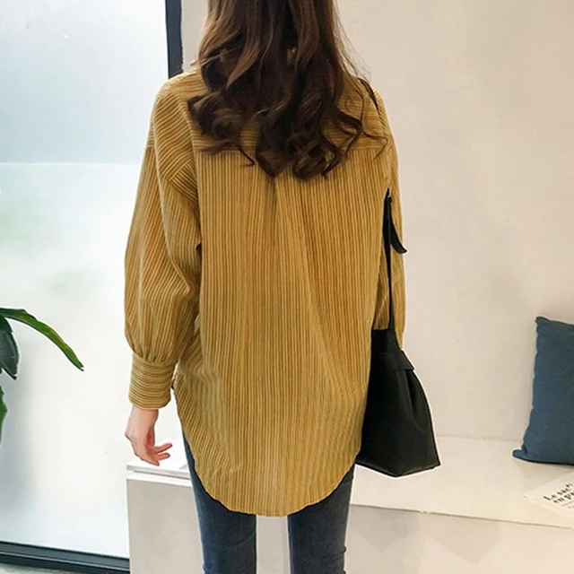 Causal Women Shirts Long Sleeve Turn Down Collar Blouse Shirt Plus Size 4XL Cotton Linen Women Tops Blusas Feminina DF2366 4