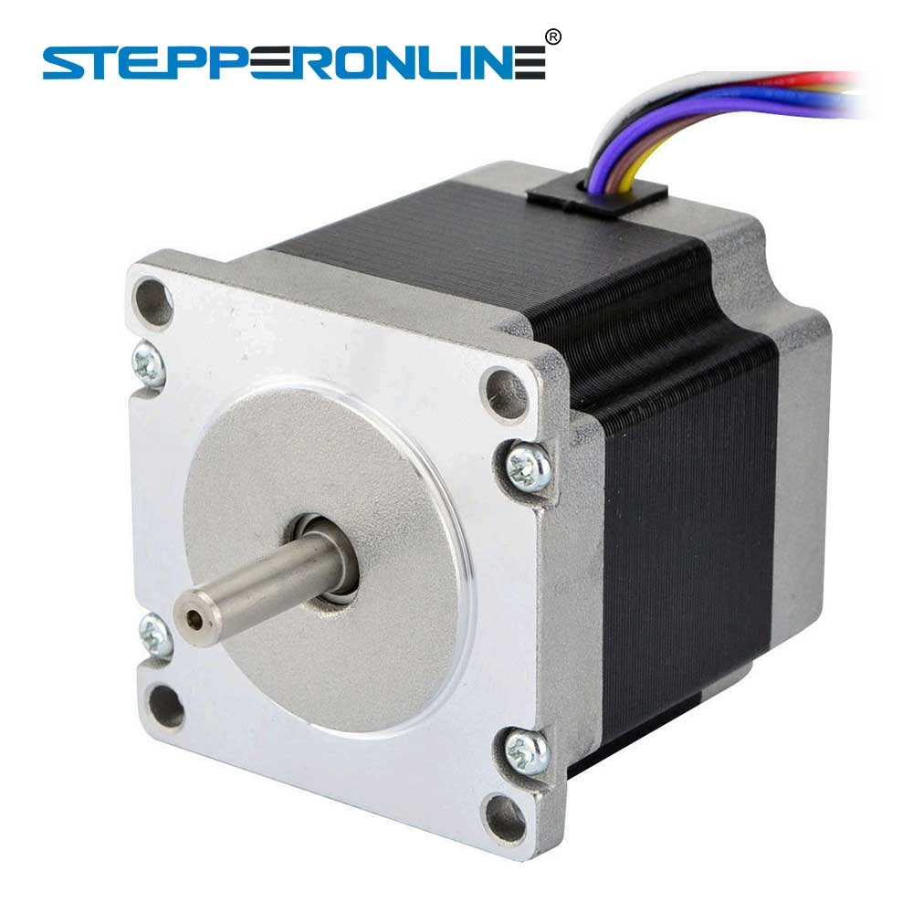 Nema 17 Stepper Motor Unipolar 6 Wires 18 Degree 158ncm224ozin Wiring Diagram Dual Shaft 23 Bipolar 126nm 1784oz