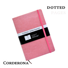 цена на Dot Grid Hard Cover Candy Color A5 PU Notebook Elastic Band Travel Puntos Dotted Journal Bujo Pointed Writing Pads