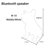 M10 New Portable Wireless Bluetooth Loudspeaker Various Size Full Dog Audio Hifi Bass Speaker Support Tf Card For Music Playing