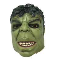 Halloween Green Giant Latex Mask Cartoon Hulk Rubber Head Masks Carnival Party Cosplay Superhero Bruce Banner