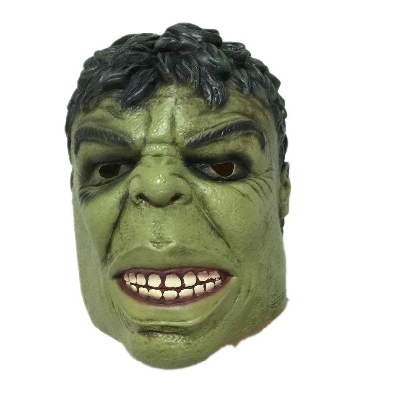 Halloween Green Giant Latex Mask Cartoon Hulk Rubber Head Masks Carnival Party Cosplay Superhero Bruce Banner Masquerade Adult