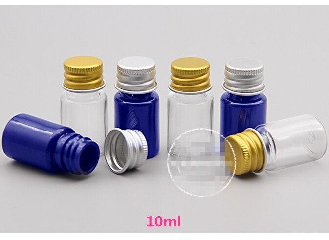 Lot de 100 bouteilles en plastique transparent 10 ml